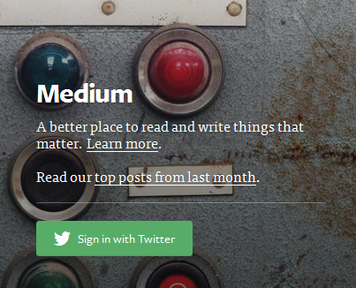 medium signup screen | WDA