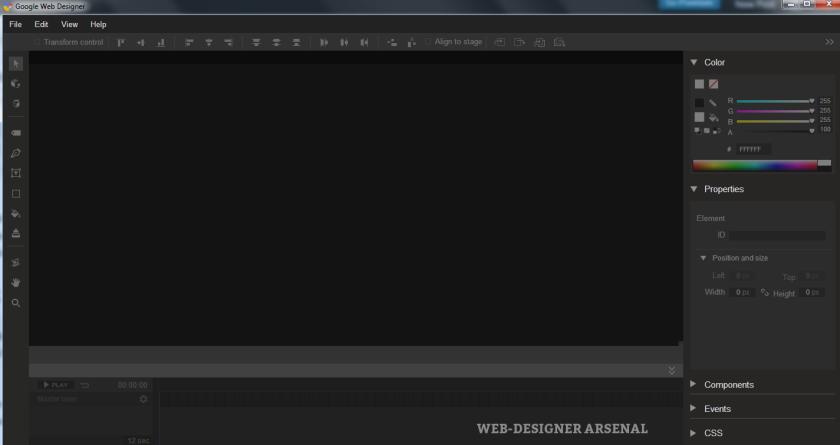 default-google-web-designer-screen | For Review by WDA