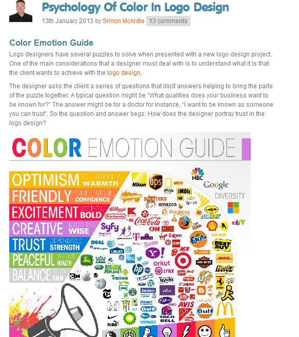 the psychology of color in logo design | Web-Designer Arsenal