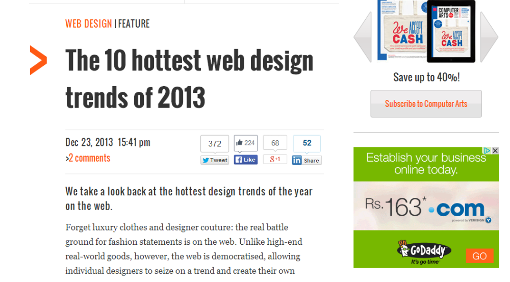 10 hottest web design trends