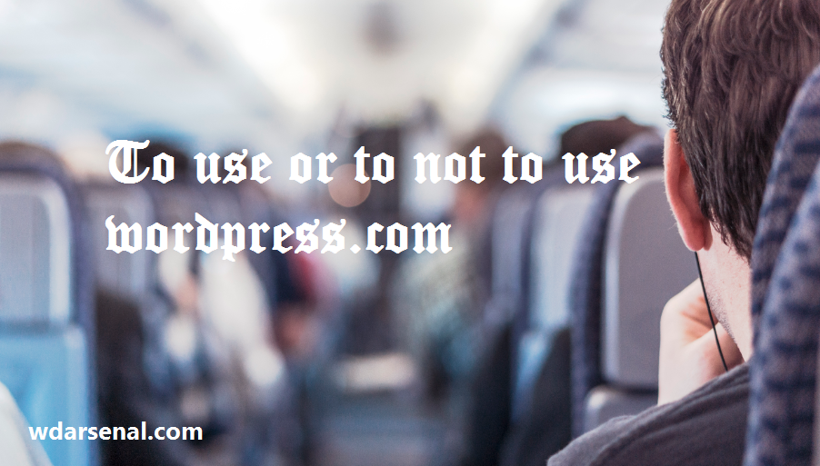 to use or to not to use wordpress.com